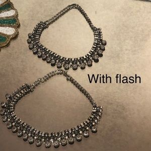 Jewelry - Stunning Oxidized Silver Necklace Choker Indian
